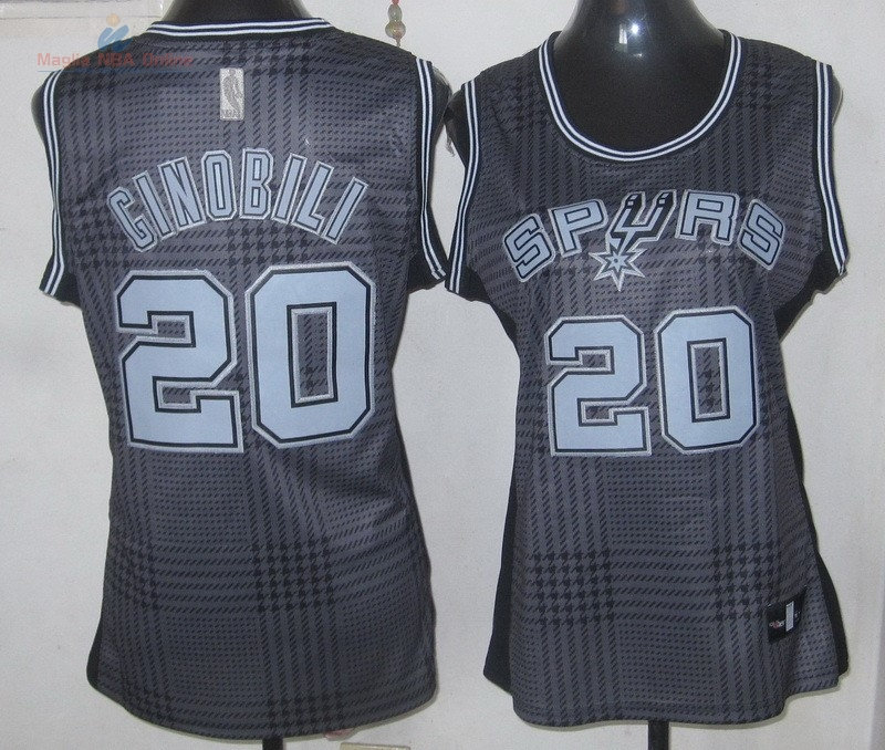 Acquista Maglia NBA Donna 2013 Fashion Statico #20 Ginóbili
