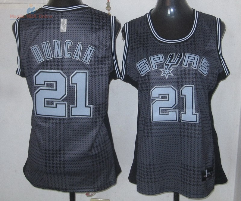 Acquista Maglia NBA Donna 2013 Fashion Statico #21 Duncan