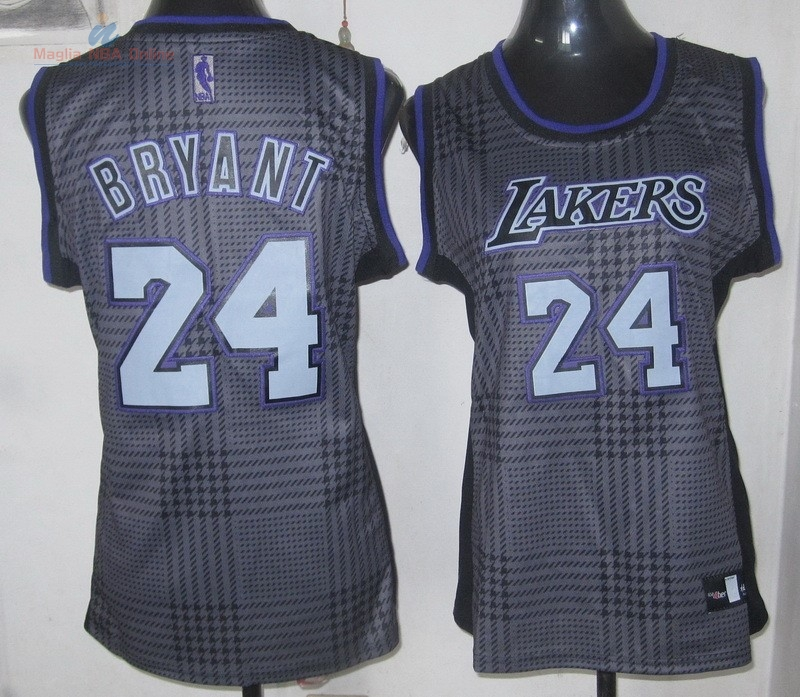 Acquista Maglia NBA Donna 2013 Fashion Statico #24 Kobe Bryant Porpora