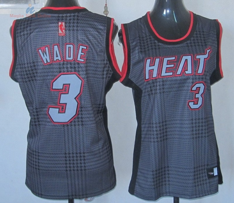 Acquista Maglia NBA Donna 2013 Fashion Statico #3 Wade