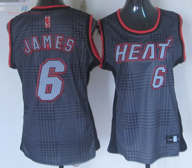 Acquista Maglia NBA Donna 2013 Fashion Statico #6 James