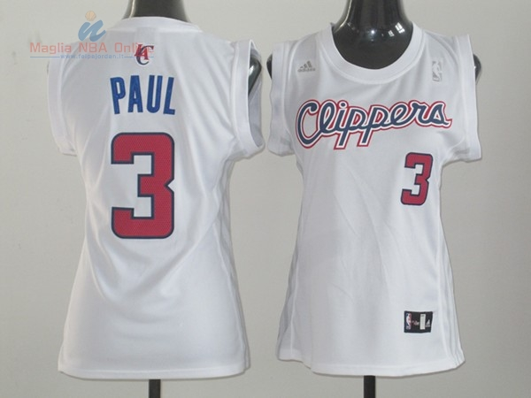 Acquista Maglia NBA Donna Los Angeles Clippers #3 Chris Paul Bianco