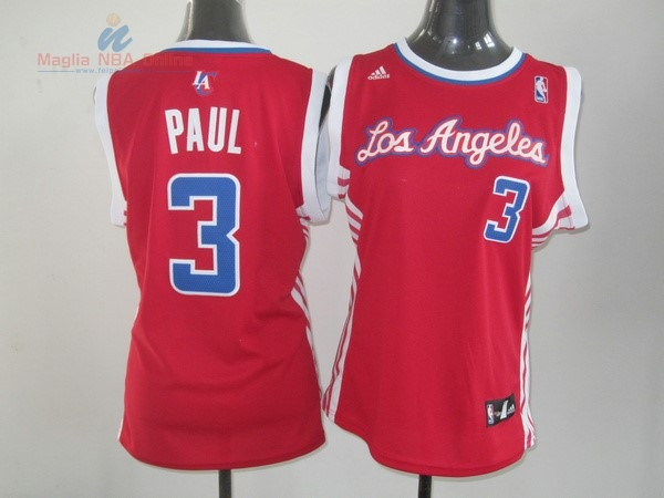 Acquista Maglia NBA Donna Los Angeles Clippers #3 Chris Paul Rosso