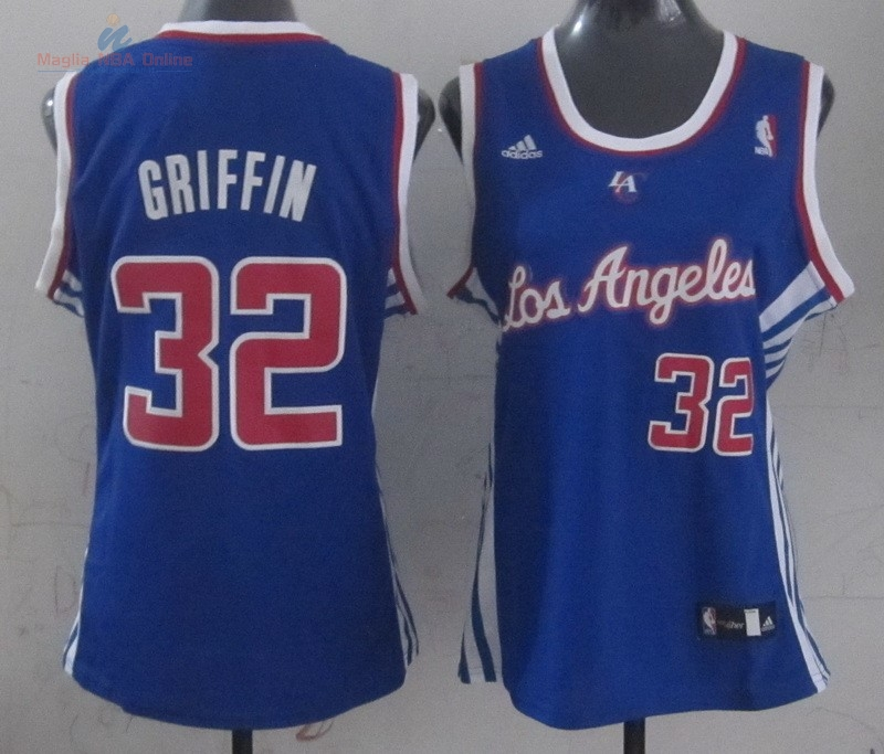 Acquista Maglia NBA Donna Los Angeles Clippers #32 Blake Griffin Blu