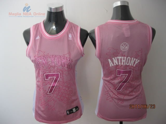 Acquista Maglia NBA Donna New York Knicks #7 Carmelo Anthony Rose
