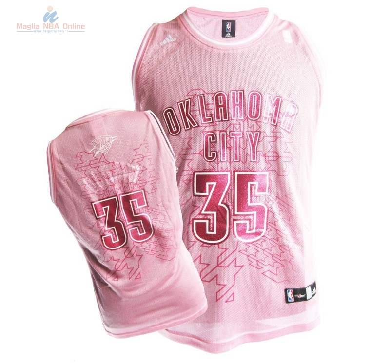Acquista Maglia NBA Donna Oklahoma City Thunder #35 Kevin Durant Rose