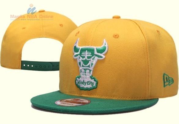 Acquista Cappelli 2016 Chicago Bulls Giallo Verde Online.Divise ... 82d1b37d94df