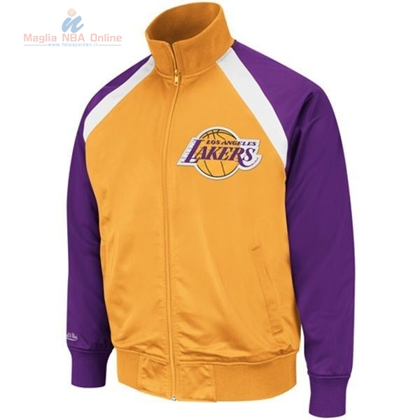 Acquista Giacca NBA Los Angeles Lakers Giallo Porpora