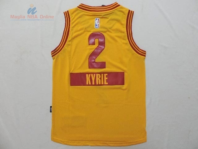 Acquista Maglia NBA Bambino 2014 Natale Cleveland Cavaliers #2 Kyrie Irving Giallo