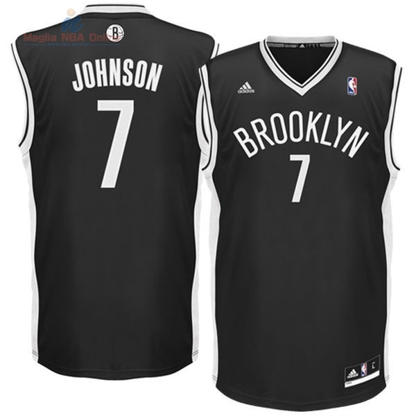 Acquista Maglia NBA Brooklyn Nets #7 Earvin Johnson Nero