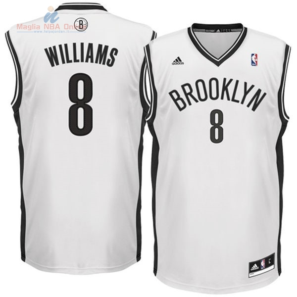 Acquista Maglia NBA Brooklyn Nets #8 Deron Michael Williams Bianco