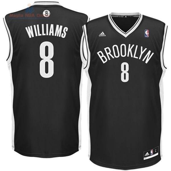 Acquista Maglia NBA Brooklyn Nets #8 Deron Michael Williams Nero