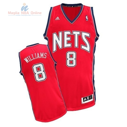 Acquista Maglia NBA Brooklyn Nets #8 Deron Michael Williams Rosso