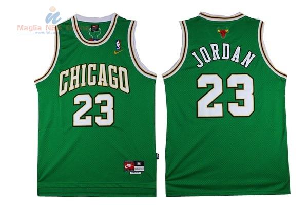 Acquista Maglia NBA Chicago Bulls  23 Michael Jordan Verde Online ... 7ee2231c750c