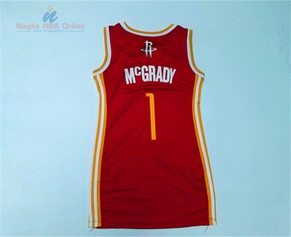 Acquista Maglia NBA Donna Houston Rockets #1 Tracy McGrady Rosso