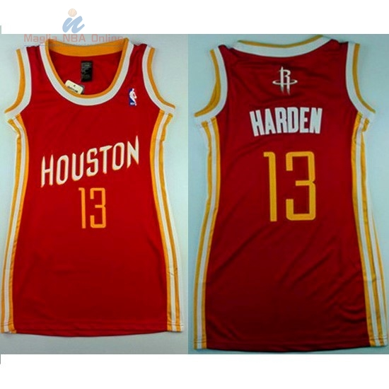 Acquista Maglia NBA Donna Houston Rockets #13 James Harden Retro Rosso