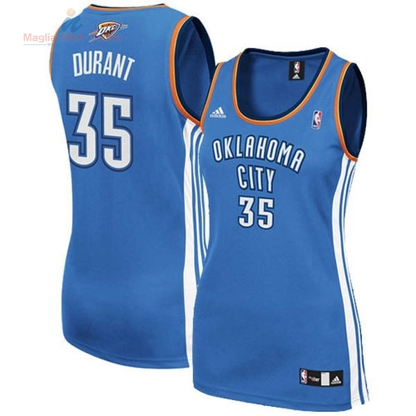 Acquista Maglia NBA Donna Oklahoma City Thunder #35 Kevin Durant Blu