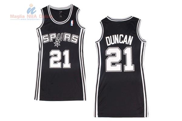 Acquista Maglia NBA Donna San Antonio Spurs  21 Tim Duncan Nero ... 1ea2361f26d8