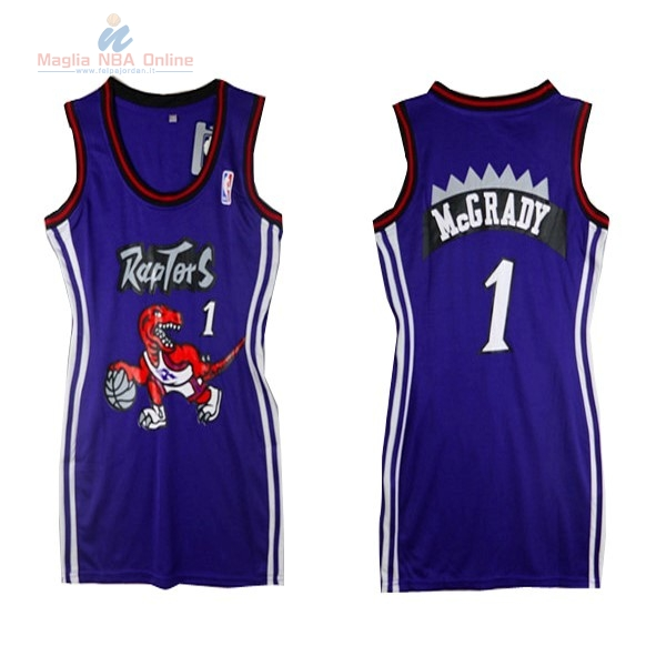 Acquista Maglia NBA Donna Toronto Raptors #1 Tracy McGrady Porpora