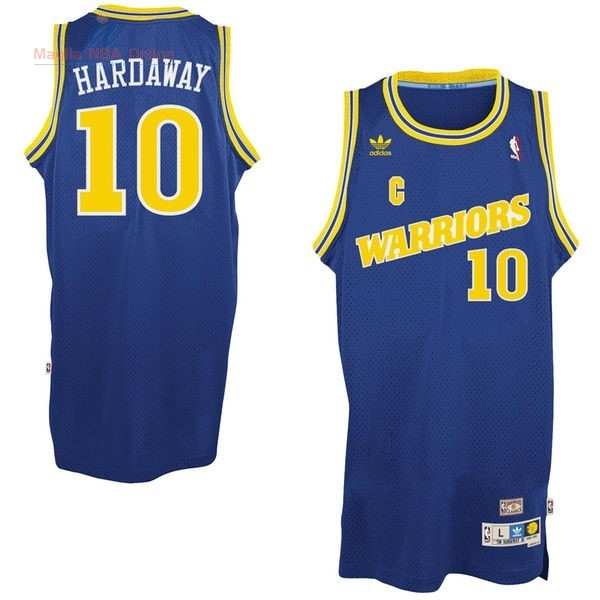 Acquista Maglia NBA Golden State Warriors #10 Anfernee Hardaway Retro Blu