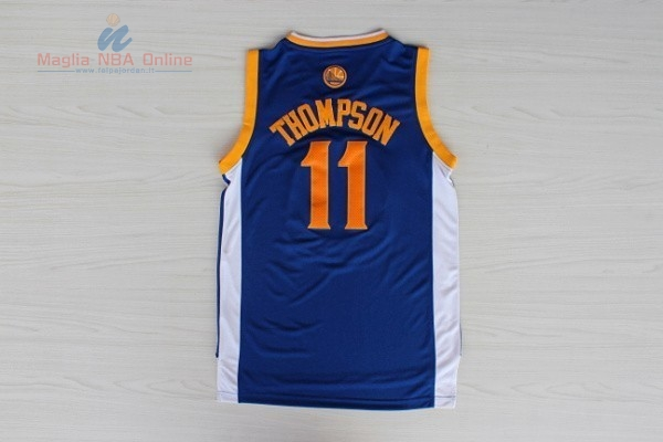 Acquista Maglia NBA Golden State Warriors  11 Klay Thompson Blu ... e273d7f4f0fb
