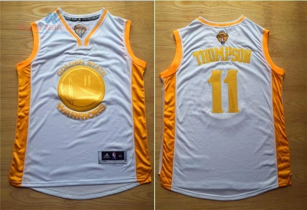 Acquista Maglia NBA Golden State Warriors #11 Klay Thompson Oro