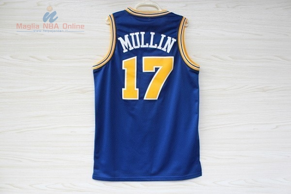 Acquista Maglia NBA Golden State Warriors #17 Chris Mullin Blu