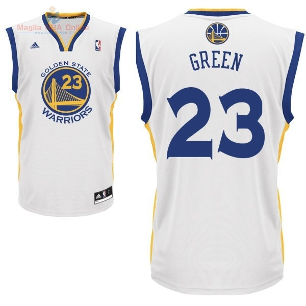 Acquista Maglia NBA Golden State Warriors #23 Draymond Green Bianco