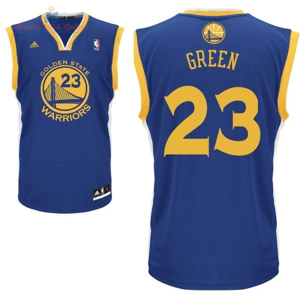 Acquista Maglia NBA Golden State Warriors #23 Draymond Green Blu