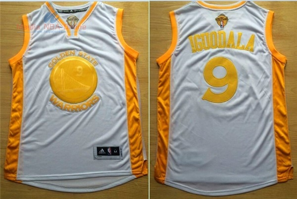 Acquista Maglia NBA Golden State Warriors #9 Andre Iguodala Oro