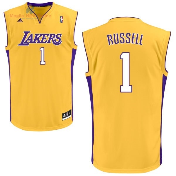 Acquista Maglia NBA Los Angeles Lakers #1 D'Angelo Russell Giallo