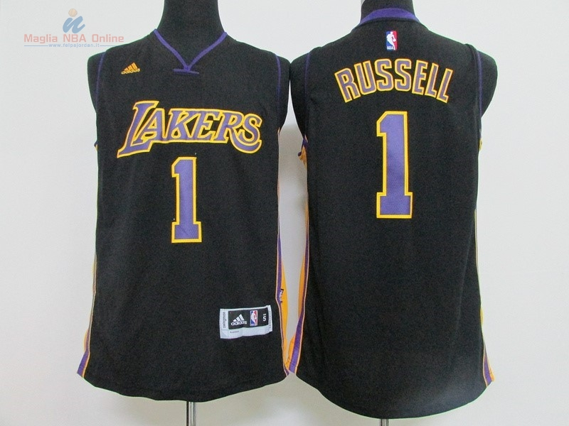 Acquista Maglia NBA Los Angeles Lakers #1 D'Angelo Russell Nero