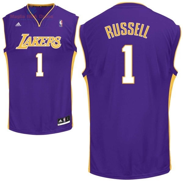 Acquista Maglia NBA Los Angeles Lakers #1 D'Angelo Russell Porpora