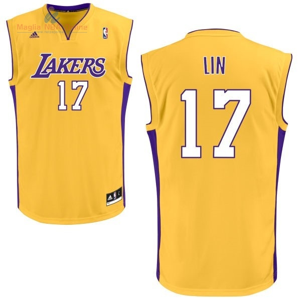Acquista Maglia NBA Los Angeles Lakers #17 Jeremy Lin Giallo