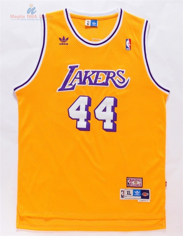 Acquista Maglia NBA Los Angeles Lakers #44 Jerry West Giallo