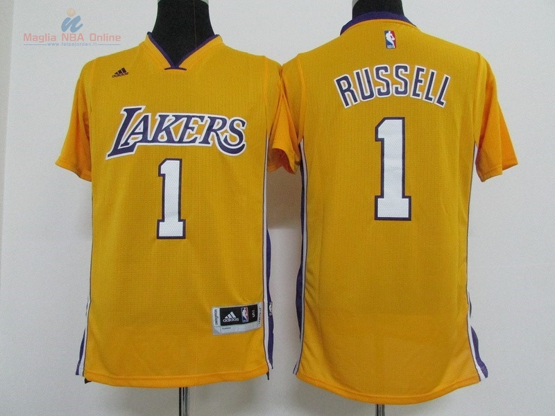 Acquista Maglia NBA Los Angeles Lakers Manica Corta #1 D'Angelo Russell Giallo