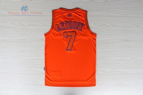 Acquista Maglia NBA New York Knicks #7 Carmelo Anthony Arancia