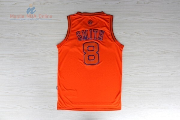 Acquista Maglia NBA New York Knicks #8 JR.Smith Arancia