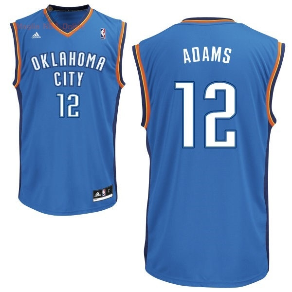 Acquista Maglia NBA Oklahoma City Thunder #12 Steven Adams Blu