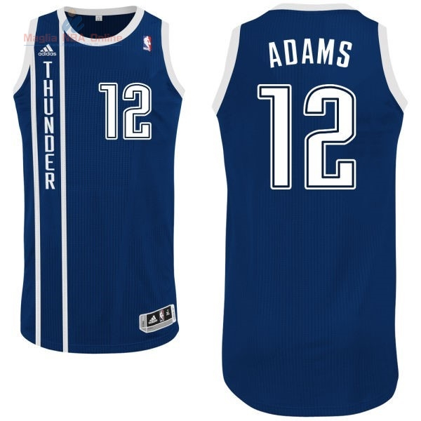 Acquista Maglia NBA Oklahoma City Thunder #12 Steven Adams Retro Blu