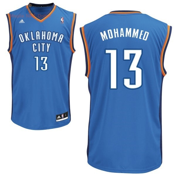 Acquista Maglia NBA Oklahoma City Thunder #13 James Harden Blu