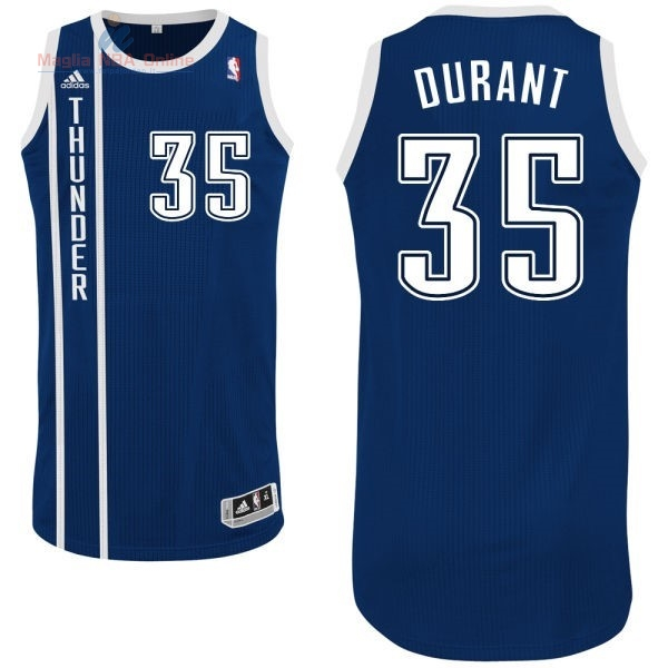 Acquista Maglia NBA Oklahoma City Thunder #35 Kevin Durant Retro Blu