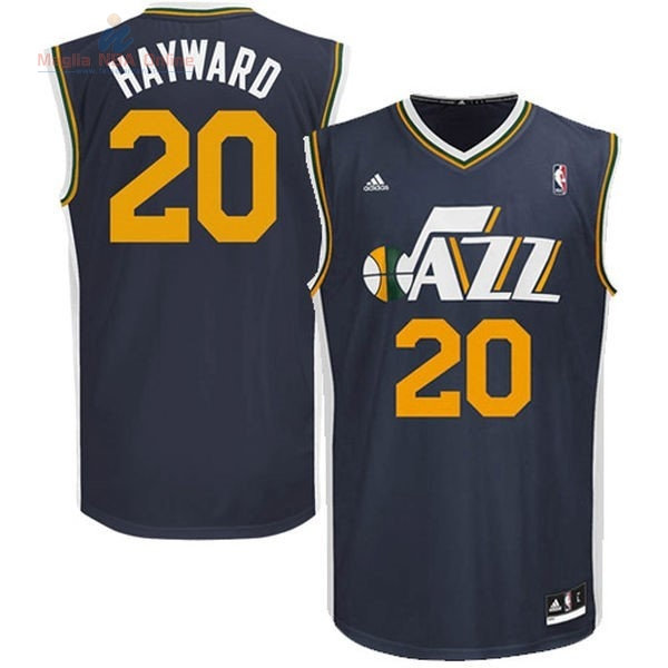 Acquista Maglia NBA Utah Jazz #20 Gordon Hayward Blu