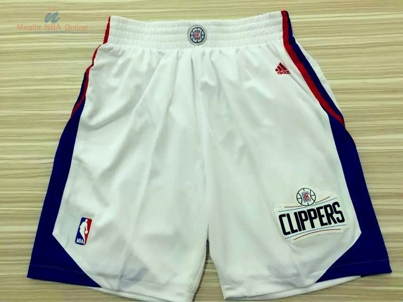 Acquista Pantaloni Basket Los Angeles Clippers Bianco