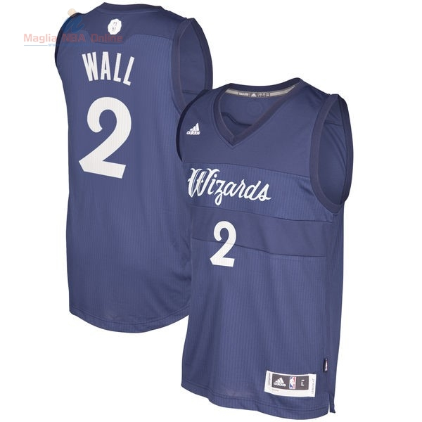 Acquista Maglia NBA Washington Wizards 2016 Natale #2 John Wall Blu