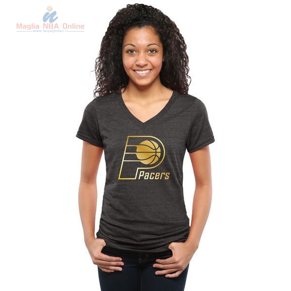 Acquista T-Shirt Donna Indiana Pacers Nero Oro